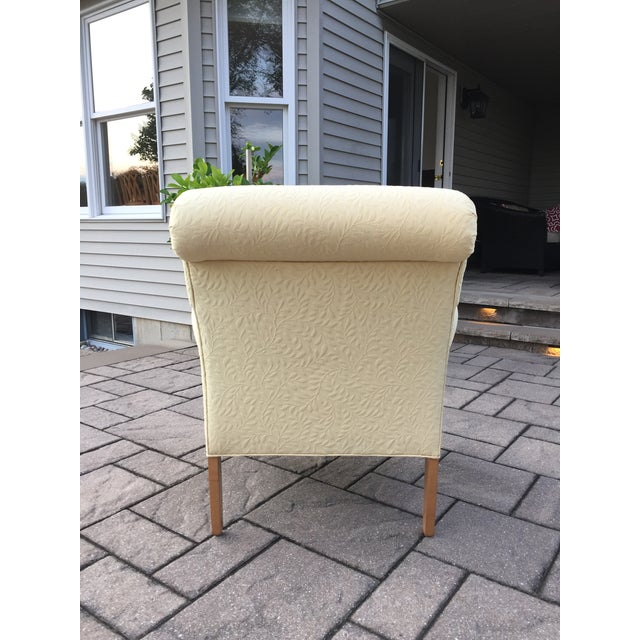 Contemporary Ethan Allen Upholstered Yellow Accent Chair For Sale - Image 3 of 9