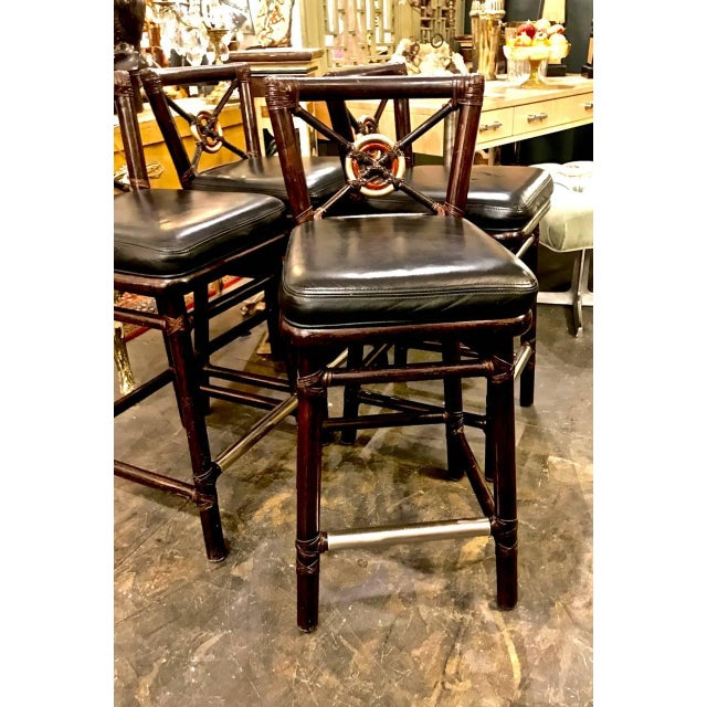 McGuire McGuire Bar Stools For Sale - Image 4 of 10