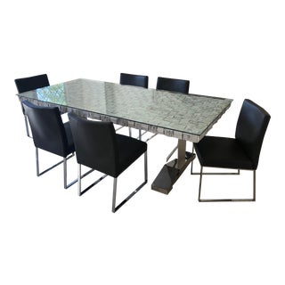 Glass Top Dining Set For Sale
