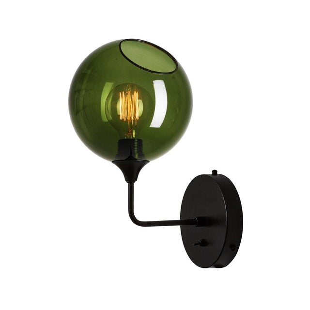 Metal Ballroom The Wall Short Sconce - Green For Sale - Image 7 of 7