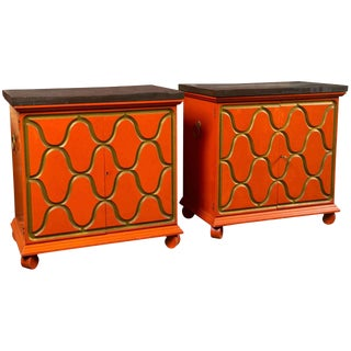 1950s Vintage Dorothy Draper Henredon Chests- a Pair For Sale