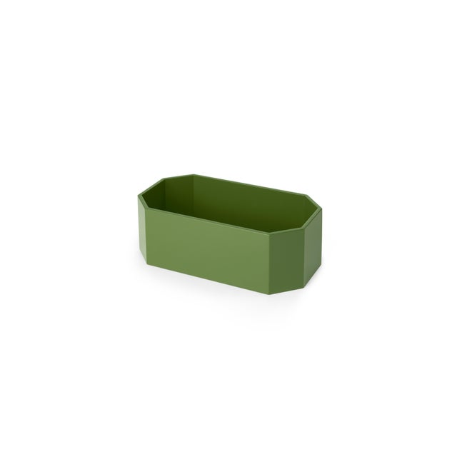 Contemporary Miles Redd Collection Octagonal Napkin Box in Lettuce Green For Sale - Image 3 of 5