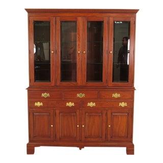 Henkel Harris Cherry Model 2760 Four Door China Cabinet