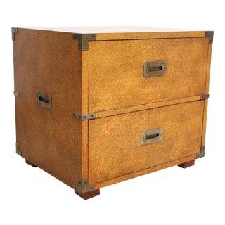 Henredon Campaign-Style Chest in Oyster Finish For Sale