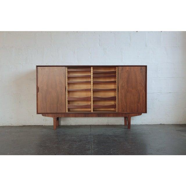 1960s Vintage Danish Teak Credenza For Sale - Image 4 of 6