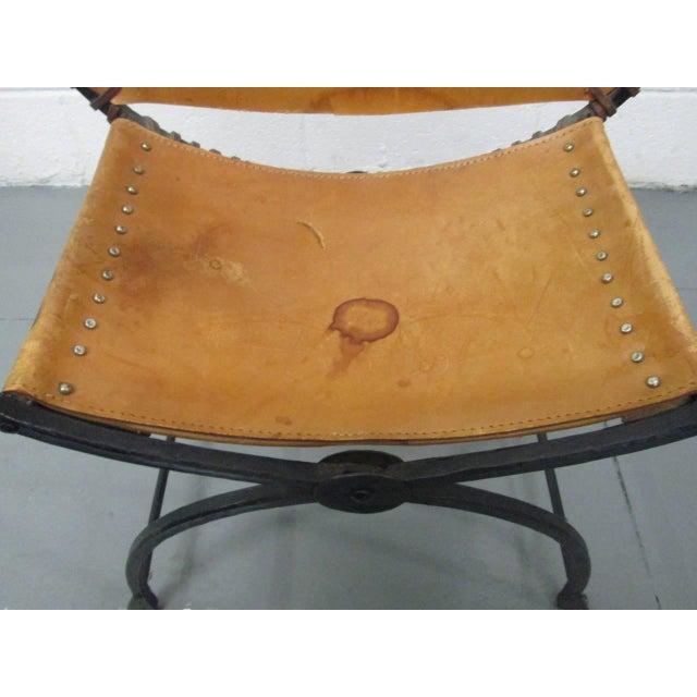 1940s Italian Curule Savonarola Chair For Sale - Image 5 of 9