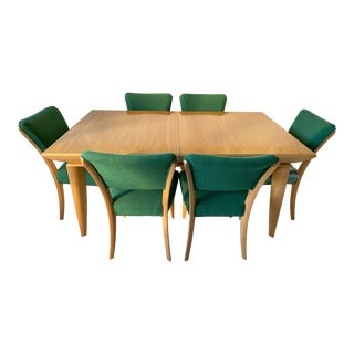 1950s Mid-Century Modern Paul Laszlo Brown Saltman Dining Set - 7 Pieces For Sale
