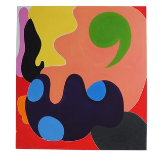 "Jessica Snow ""Green Comma"", Painting For Sale"