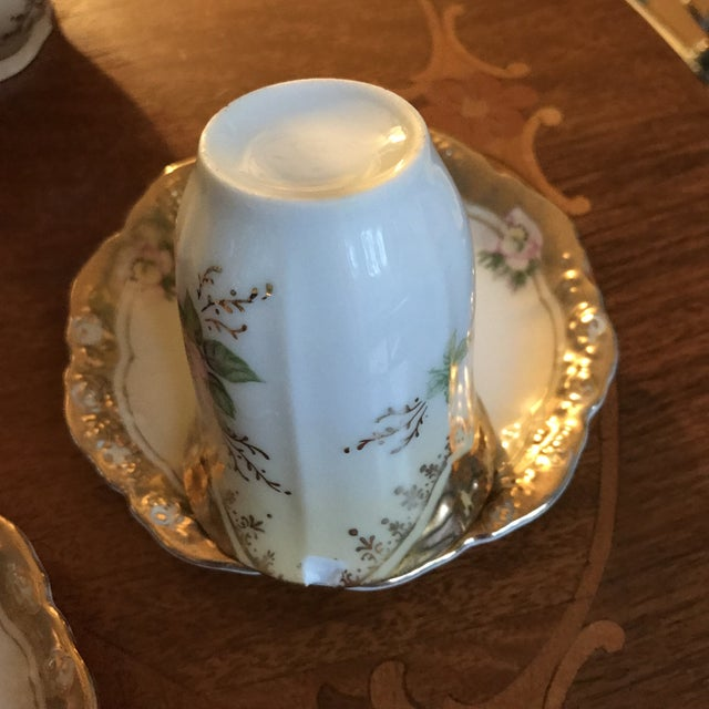Stunning, 1960s Hand Painted Prussia Floral Chocolate Set, Reduced For Sale - Image 9 of 13