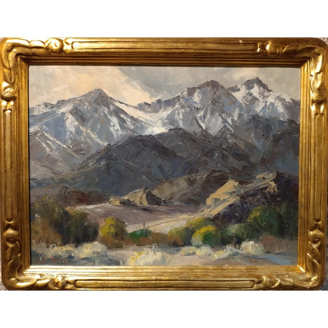 Country Bennett Bradbury -California Mountain Landscape- Impressionist Oil Painting -C1940s For Sale - Image 3 of 10