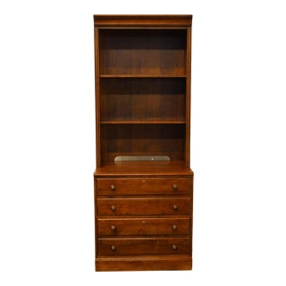 Ethan Allen British Classics Collection File Cabinet With Bookcase Hutch For Sale