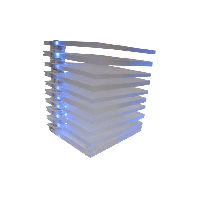 Lucite Plastic Stacking Mood Lamp Light - Image 1 of 9