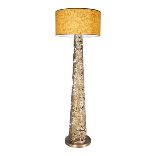 Torn Gold Floor Lamp by Christine Rouviere For Sale