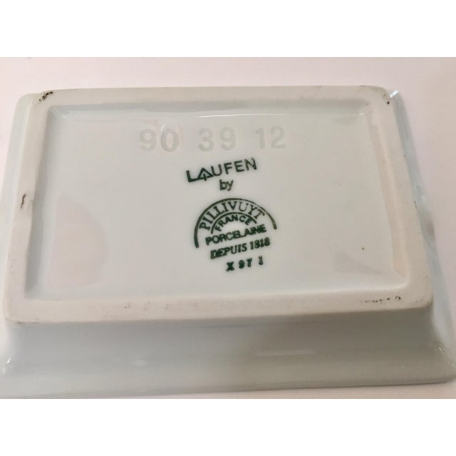 French Vintage Laufen Pillivuyt, France Collector Porcelain Ashtrays - Set of 6 For Sale - Image 3 of 12