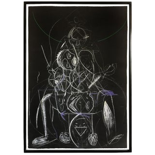 James C. Harrison Bringing Up Demons Framed Drawing For Sale