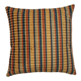 """Piper Collection Multi Colored Velvet """"Carnival"""" Pillow For Sale"""