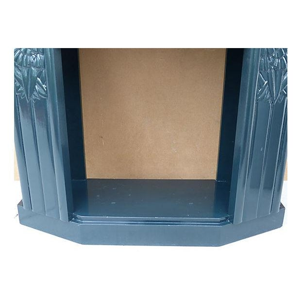 Art Deco Painted Wood Console with Marble Top - Image 7 of 8