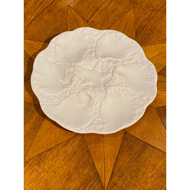 White starfish oyster plate, four available.