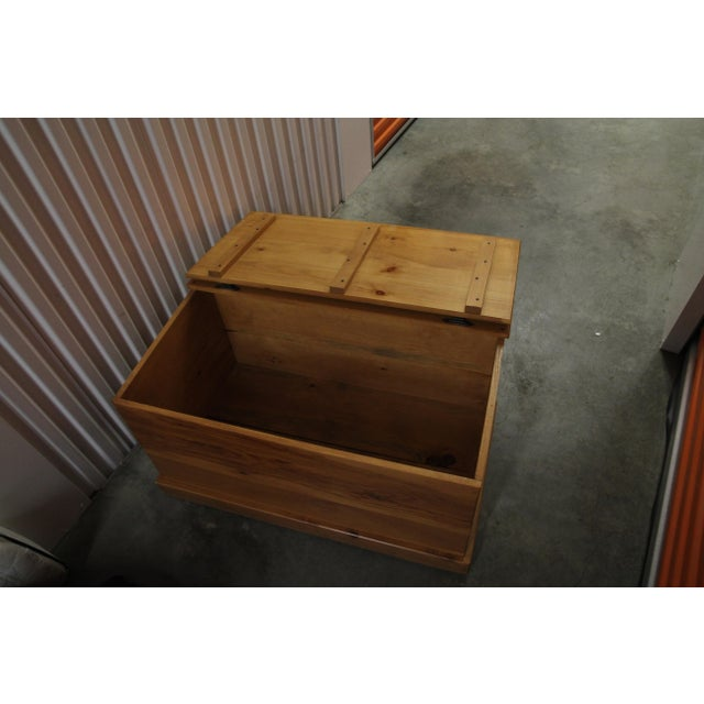 Amish Handmade Solid Wood Floral Design Trunk - Image 8 of 11