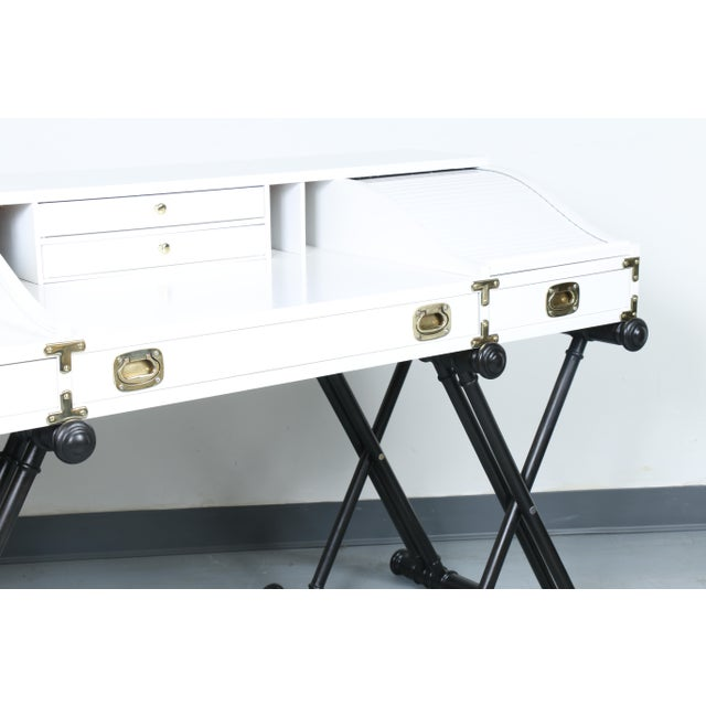 White Hollywood Regency Desk - Image 11 of 11
