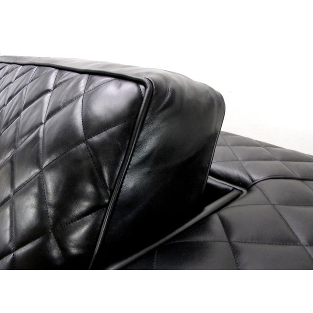 2010s Embroidered Leather Sofa From Zanaboni, Italy For Sale - Image 5 of 8