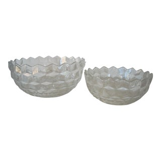 1950s American Fostoria Bowls - a Pair For Sale