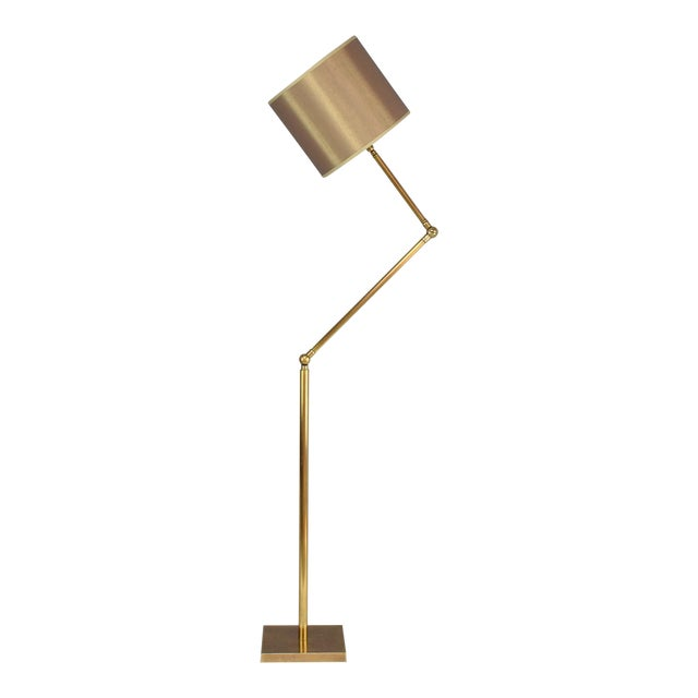 20th Century French Brass Floor Lamp, 1960's For Sale