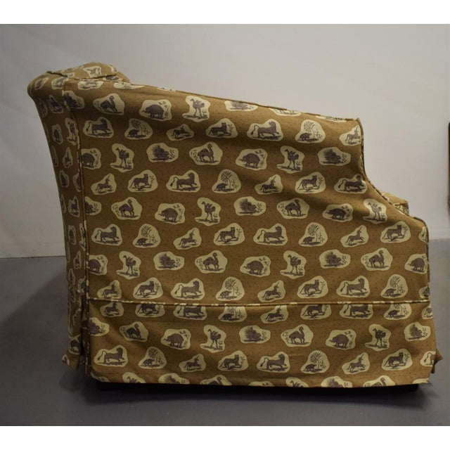 Cowtan & Tout Safari Upholstered Sofa w Pillow - Image 9 of 9