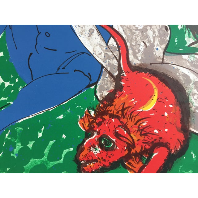"Robert Beauchamp Original Lithograph ""Red Rat"" - Image 4 of 8"