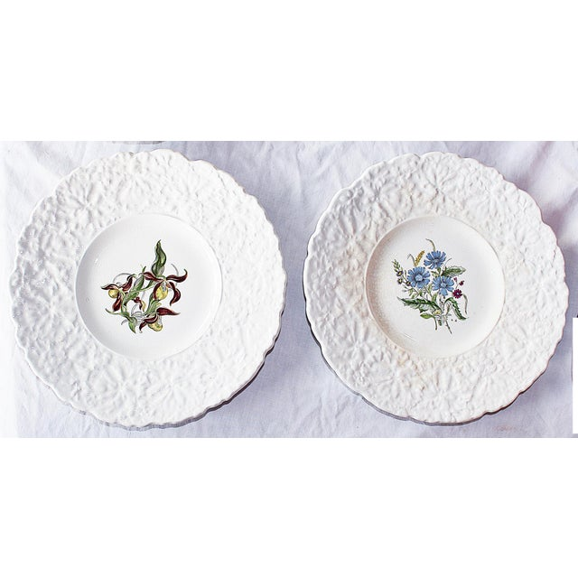 Rustic Royal Couldon Dessert Plates, Set of 8 For Sale - Image 3 of 8