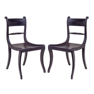 Vintage Regency Style Side Chairs - A Pair