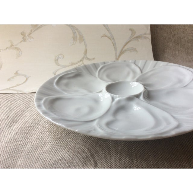 Vintage French Porcelain Oyster Plate, 1950s For Sale - Image 6 of 7