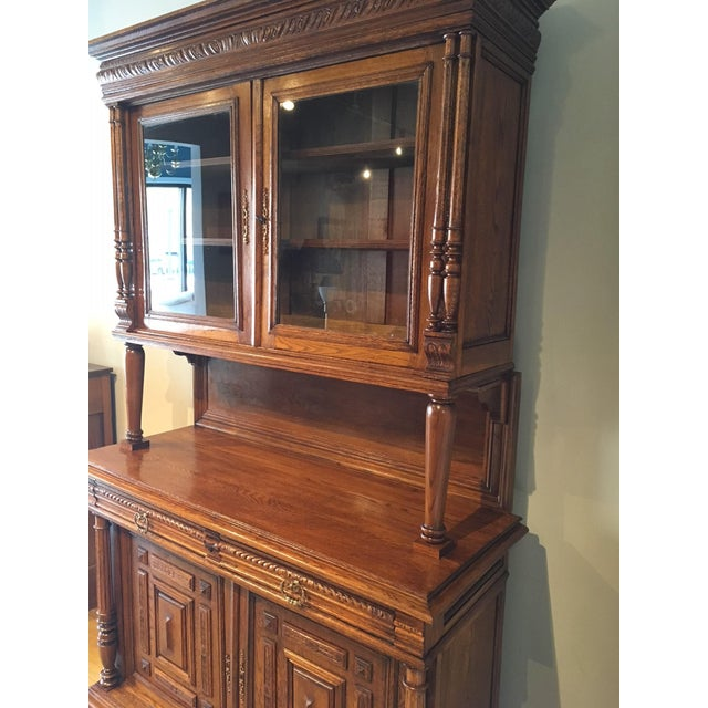 French Antique French Carved Cabinet For Sale - Image 3 of 8