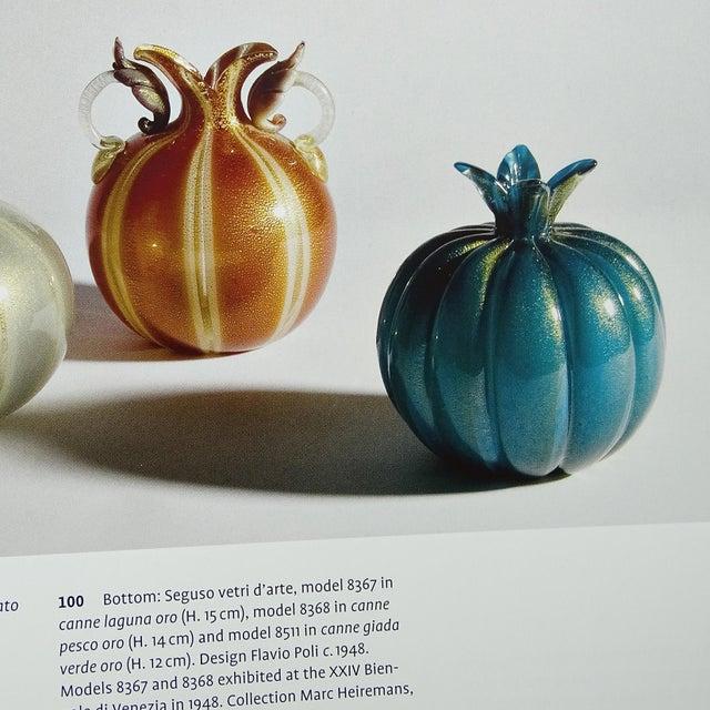 1940s Seguso Vetri D' Arte Murano Blue Gold Leaf Italian Art Glass Onion Bulb Vase For Sale - Image 5 of 6