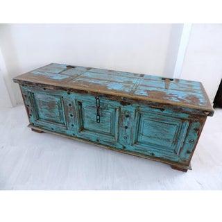 Antique Blue Storage Trunk Preview