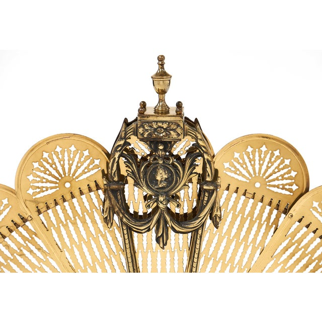 French Antique Napoleon III Period Fire Screen For Sale - Image 5 of 10