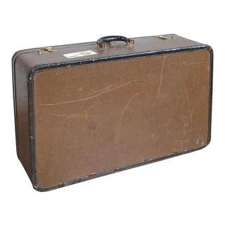 Large Dresner Vintage Tweed Suitcase For Sale