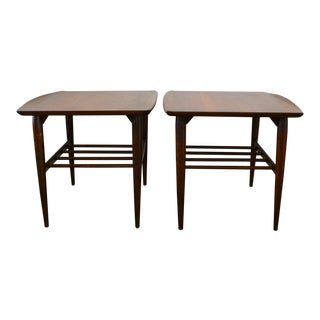 1960s Danish Modern Bassett Surfboard End Tables - a Pair For Sale
