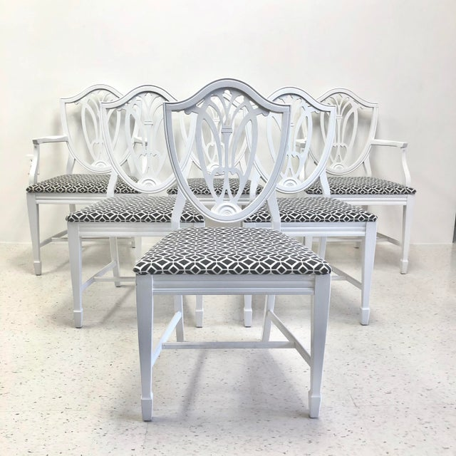 Bernhardt Chippendale Style White Lacquered Dining Chairs - Set of 6 For Sale - Image 9 of 9