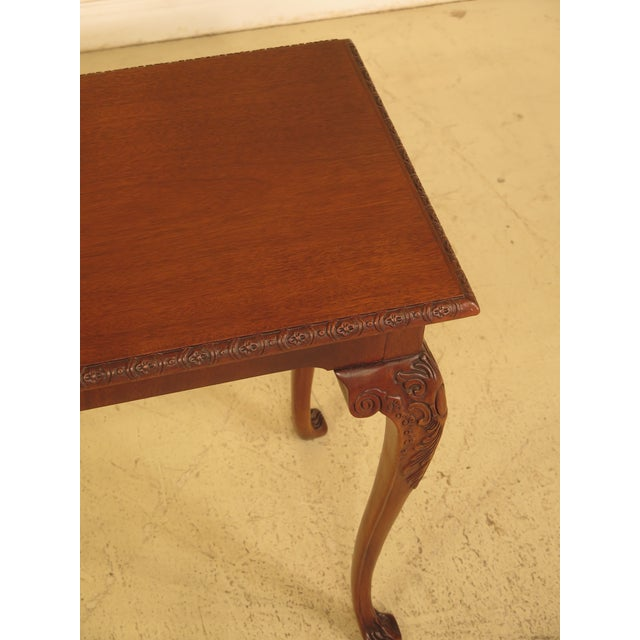 Wellington Hall Georgian Style Carved Mahogany Console Table - Image 7 of 11