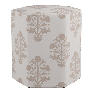 Hexagonal Ottoman in Garden In Sand For Sale