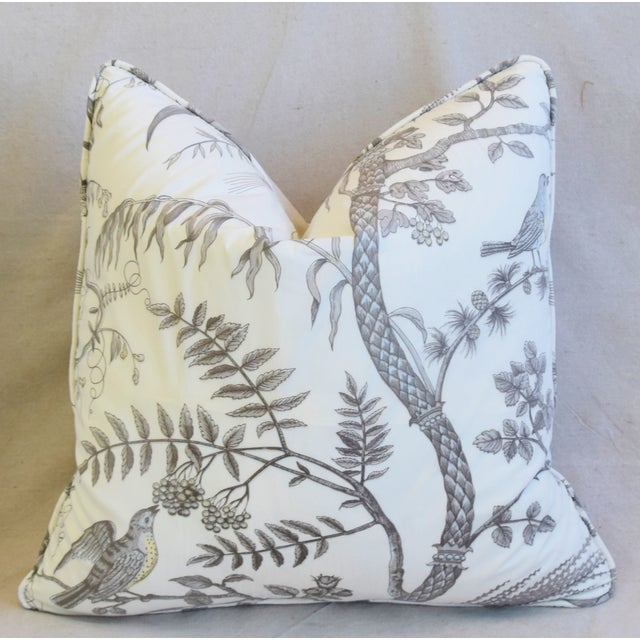 """Brunschwig & Fils Bird and Thistle Feather/Down Pillows 21"""" Square - Pair For Sale In Los Angeles - Image 6 of 13"""