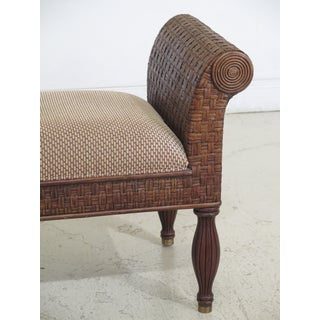 Ethan Allen Rattan Plantation Style Window Bench Preview