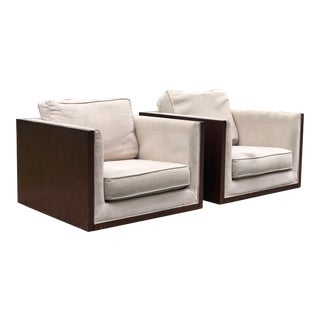 Milo Baughman for Thayer Coggin Cube Chairs - a Pair For Sale
