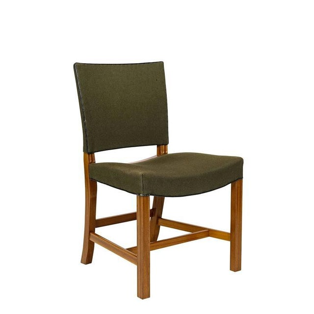 Set of ten Kaare Klint dining chairs in mahogany designed in 1927 and produced by Rud Rasmussen.