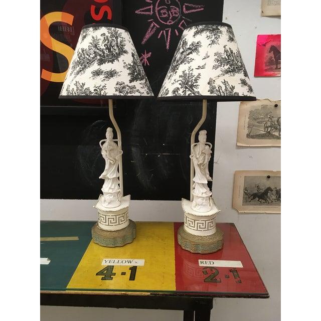 Vintage Oriental Porcelain Lamps - a Pair For Sale - Image 9 of 9