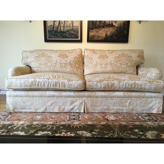 Baker Furniture Company Custom Made English Arm Sofa For Sale - Image 4 of 4