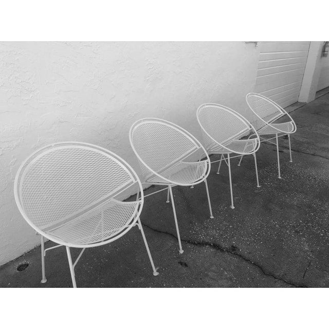 Tempestini Salterini 4 Radar Hoop Chairs and Cocktail Table - Set of 5 For Sale In West Palm - Image 6 of 13