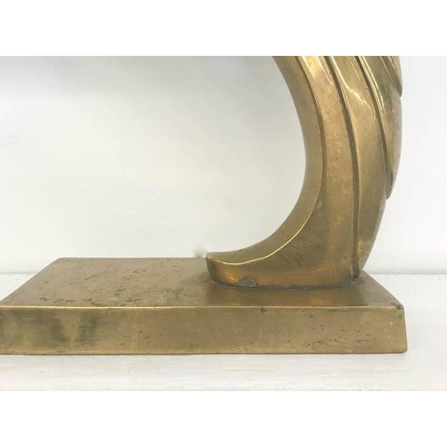 Vintage Brass Gazelle Statue For Sale - Image 4 of 5