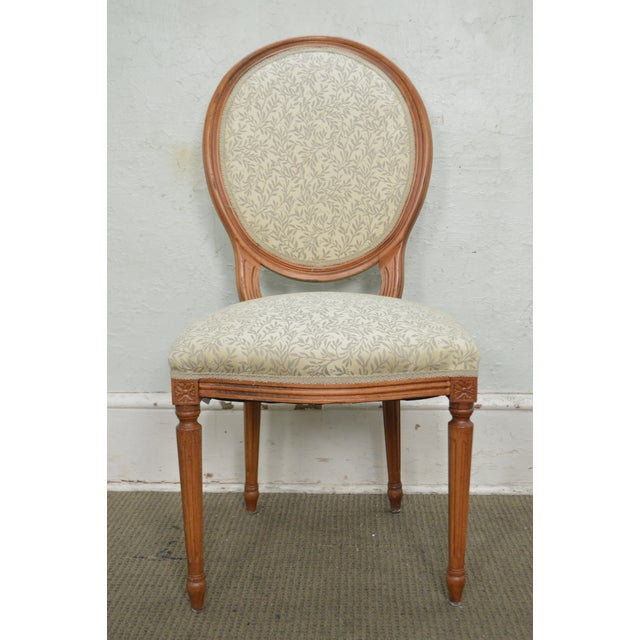 Statesville Chair Co. Set of 10 Walnut Frame French Louis XV Style Dining Chairs For Sale - Image 5 of 10